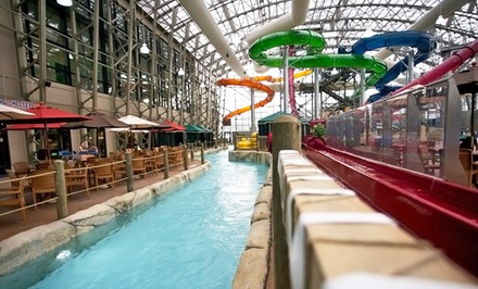 groupon daily deal - 1-Night Stay for Four with Water-Park Admission at Jay Peak Resort in Jay, VT. Combine Up to 3 Nights.