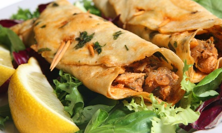 One or Three Groupons, Each Good for $14 Worth of Indian Street Food at Bombay Wraps (Up to 46% Off)