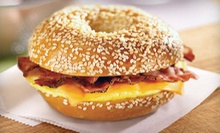 $20 for a $40 Gift Card Good for Bagels, Bagel Sandwiches, Deli Food, Drinks, and More at Bruegger's