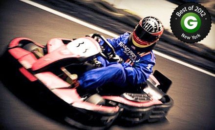 Go-Karting and Gaming Package with Two Races for a Child, Teen, or Adult at Grand Prix New York (Up to 57% Off)