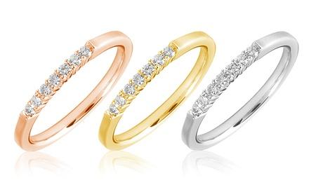 Dia dos Namorados: Anel Promessa em ouro de 10k e com 7 diamantes por apenas 89,99€ (-79%)