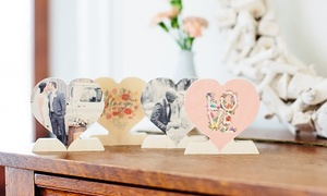 Up To 83% Off Custom Wooden Photo Hearts