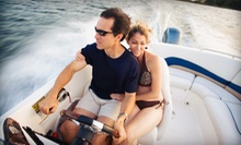 Eight-Hour Pontoon or Run-About Boat Rental from Hales Ford Marina & Boat Rentals (Up to 51% Off)