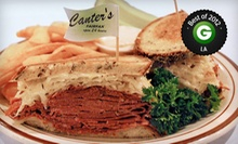 Up to 51% Off Deli Food at Canter's Deli. Three Options Available.