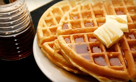 Meal for Four or $10 for $20 Worth of Burgers, Waffles, and Fresh Fare at Num Num Confiteria