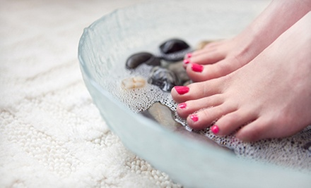 Classic Mani-Pedi, or Shellac or Spa Manicure with Signature Pedicure at Glow Salon & MedSpa (Up to 60% Off)