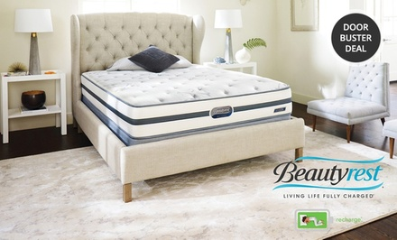 Simmons Beautyrest Recharge Plush-Top Mattress Set. Multiple Sizes from $449.99–$779.99. Free White Glove Delivery.