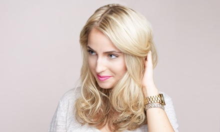 Cut with Partial or Full Highlights or Deep Conditioning at Evo Salon and Spa (Up to 54% Off)