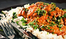 Three-Course Indian Dinner with Naan and Drinks for Two or Four at Mantra in Jersey City or Paramus (Up to 45% Off)