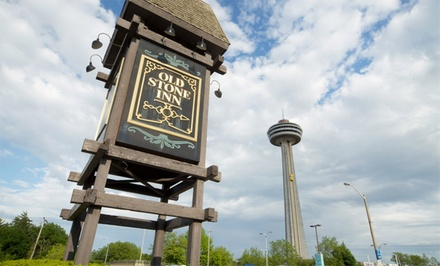 groupon daily deal - 1-Night Stay for Two with Dining Credits and Wine Tastings at Old Stone Inn Boutique Hotel in Niagara Falls, ON
