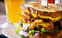 American Food for Lunch or Dinner at The Slidebar Rock-n-Roll Kitchen (Half Off). Three Options Available.