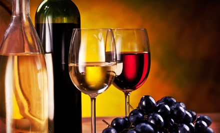 $65 for Six Bottles of Wine, Corkscrew, and Two Wineglasses at Pugliese Vineyards (Up to a $125.94 Value)