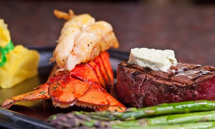 Seafood and Steak at Woody's Wharf (Up to 45% Off). Two Options Available.
