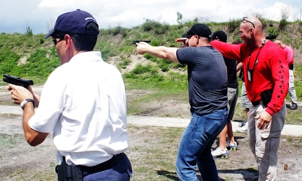 Firearms Course from Tactical U Firearms Training & Self-Defense (Up to 51% Off). Three Options Available.