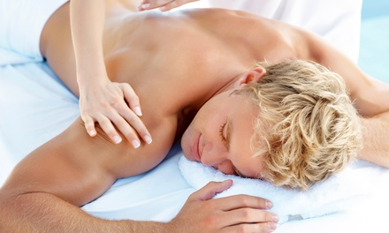 60-Minute Men's Sports Massage with Optional Hot Stones and Foot Scrub at Orchid Laser & Body (Up to 41% Off)