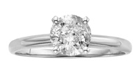 GROUPON: 3.25 CTTW Certified Diamond Solitaire Ring in 18K Whi... 3.25 CTTW Certified Diamond Solitaire Ring in 18K White Gold