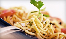 $40 for a Two-Course Italian Dinner for Two with One Bottle of Wine at Via Della Pace (Up to $93.90 Value)