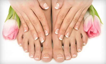 One, Two, or Three Spa Mani-Pedis at Universal Beauty Institute (Up to 68% Off)