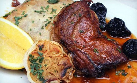 French Meal with Appetizers, Entrees, and Wine for Two or Four at Maison (Up to 62% Off)