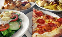 One Large Pizza and Drinks for Two, or $8 for $16 Worth of Italian Food and Drink at The Garlic Knot
