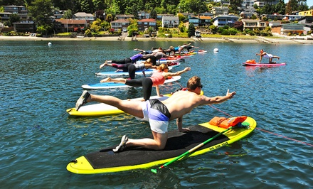 Three Standup-Paddleboard-Yoga Classes from WASUP Yoga (51% Off)
