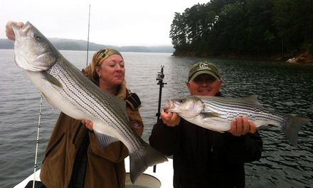 $159 for a Half-Day Fishing Trip for Two from Extreme Stripers Guide Service ($300 Value)