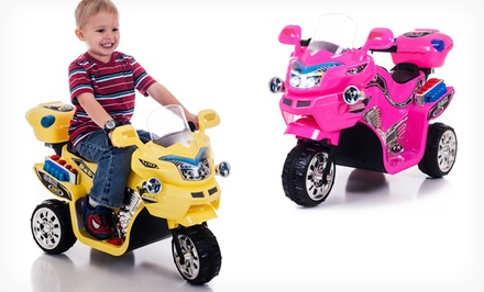 groupon daily deal - Lil' Rider FX Battery-Powered 3-Wheel Bike. Multiple Colors Available. Free Returns.