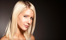 Haircut and Blow-Dry with Option for a Restorative Hair Treatment or Partial Highlights at Salon Vaxxe (Up to Half Off)