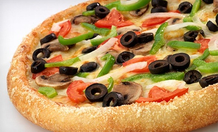 $15 for Two Large Two-Topping Pizzas with 3-Cheeser Bread and a Two-Liter Soda at Hungry Howie's ($30.78 Value)