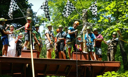 Zipline Canopy Tour at eXplore Brown County at Valley Branch Retreat (Up to 59% Off). Five Options Available.