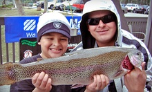 Lakeside or On-Boat Fishing for Two, with Pole Rental, Permits, and Bait at Laguna Niguel Lake (Up to Half Off)