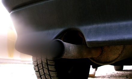 Renewal Sticker with Safety Inspection, Emissions Test, or Both (Up to 56% Off)