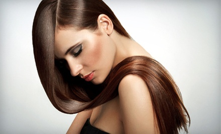 Haircut and Style with Conditioning Treatment or Partial Highlights at Callas Beauty Institute (Up to 54% Off)