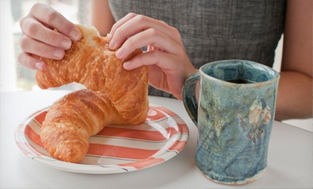 Caf Drinks, Pastries, and Gift-Shop Items at Thanks A Latte (Up to 56% Off). Two Options Available.