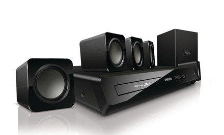 Philips 5.1 Home-Theater System with Built-in WiFi and 3D Blu-ray  (Manufacturer Refurbished). Free Returns.