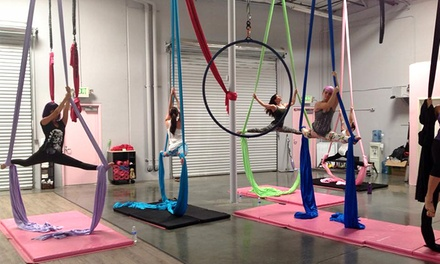 Four or Eight Pole Fitness, Aerial Silks, or Lyra Classes at Polecats Aerial Fitness (Up to 68% Off)