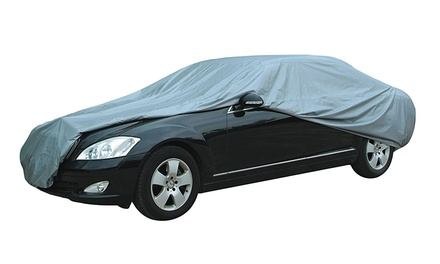 Premium Coated UV-Protective Car Cover with Storage Bag from $29.99–$41.49
