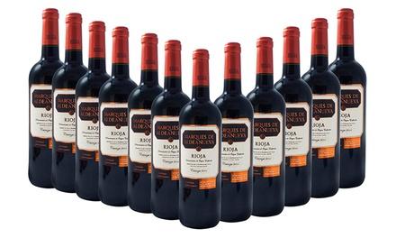 Lote de 12 garrafas de vinho tinto Rioja por 59,90€