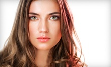 Cut, Style, and Blow-Dry with Optional Color or Partial or Full Highlights at Salon at the Station (Up to 78% Off)