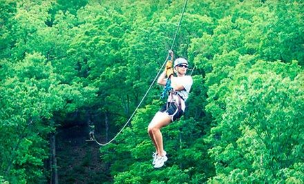 $35 for a Zipline Tour with Frequent Flyer Card from Eco Zipline Tours in New Florence ($70 Value)