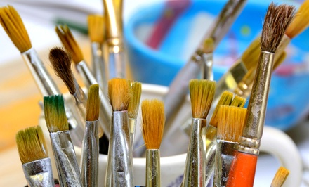 BYOB Canvas-Painting Class or Paint-Your-Own Pottery at Sunshine Gifts & Ceramic Art Studio (Up to53% Off)