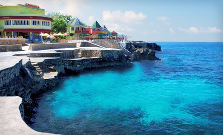 groupon daily deal - 3-, 4-, 5-, or 6-Night All-Inclusive Stay for Two at Samsara Cliff Resort in Negril, Jamaica. Includes Taxes and Fees.