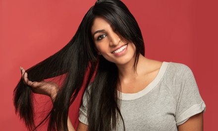 Brazilian Blowout with Optional Haircut or Haircut with Color at The Glam Box - Paula Madrid (Up to 65% Off)