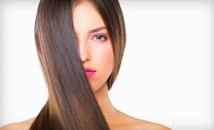 One or Three Express Keratin Hair-Smoothing Treatments at Blades Salon and Spa (Up to 51% Off)