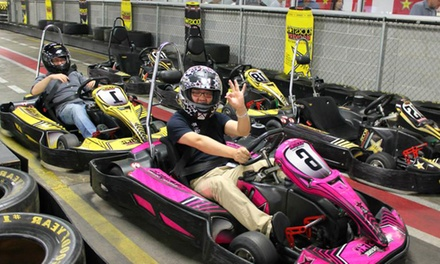 Indoor Go-Kart Races, Laser Tag, Mini Golf, and Sodas for Two or Four at Track 21 (Up to  41%Off)