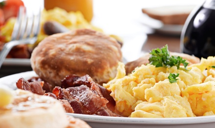 Breakfast or Lunch with Drinks for Two or Four, or a Takeout Meal for Two from Cafe Blu (Up to 49% Off)