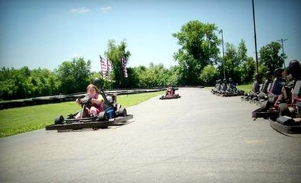 $24 for Four Five-Lap Go-Kart, Sprint-Kart, or Double-Seater Races at Boschertown Grand Prix Racing (Up to $60 Value)