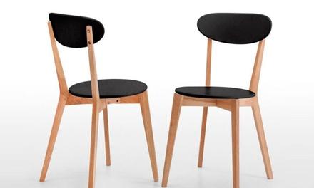 Ideia Home Design — Póvoa de Santa Iria: cadeira de madeira Lucy em branco ou preto mate desde 55€