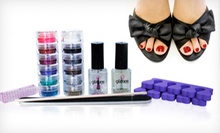 $39 for a One-Year Supply of Do-It-Yourself Glitter Toes Supplies with Shipping from Glitties Nail Art ($91.50 Value)