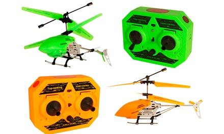 Helicóptero telecomandado em laranja ou verde por 24,90€